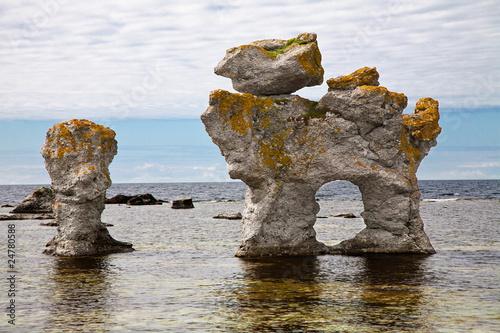 Fotomural limestone pillars