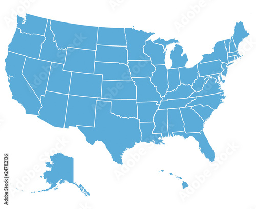 Fototapeta United States Vector Map obraz
