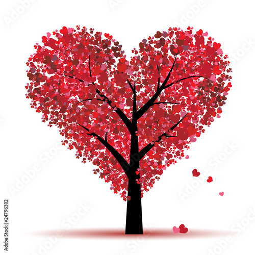 Valentine tree, love, leaf from hearts #24796302