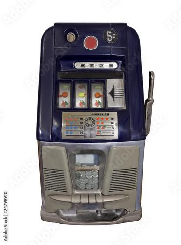 Vintage Nickel Slot Machine плакат