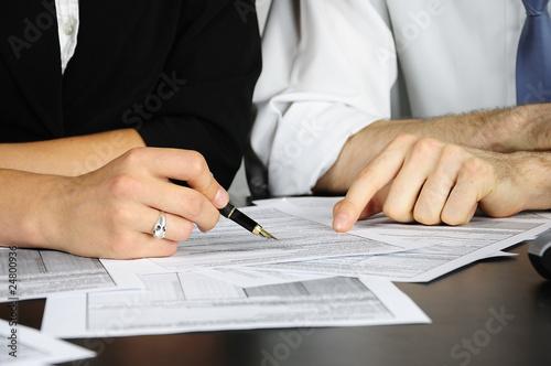 Fotografie, Obraz  wypełnianie formularzy
