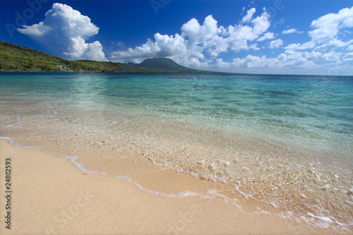 Secluded beach on the Caribbean island of Saint Kitts - Buy this