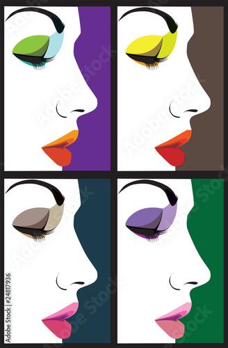 Beautiful woman face illustration - 24817936