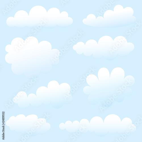 Papiers peints Ciel cartoon clouds against blue sky