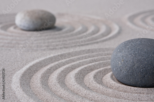 Door stickers Stones in Sand zen