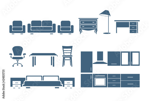 Fotografía  Furniture icons