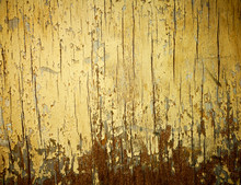 Yellow Painted Weathered Wood ...