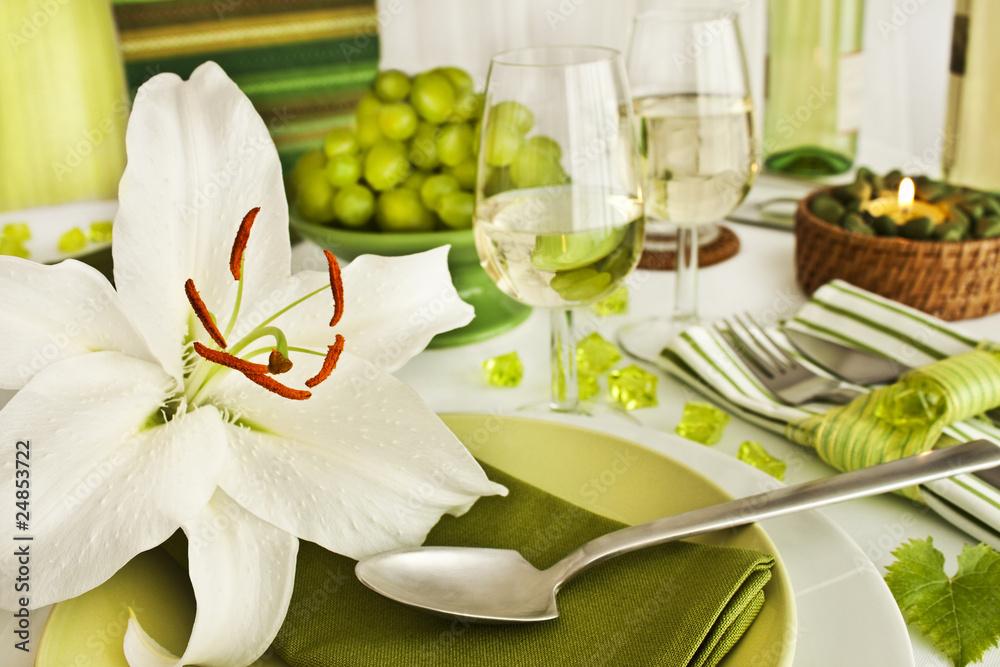 Fototapety, obrazy: Tischdekoration