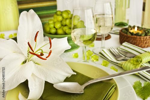Fototapeta Tischdekoration obraz