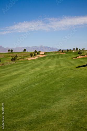 Spoed Foto op Canvas Blauwe hemel Golf Course