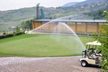 Watering Golf Turf
