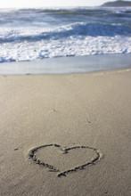 Heart In Sand - Sardinia, Italy