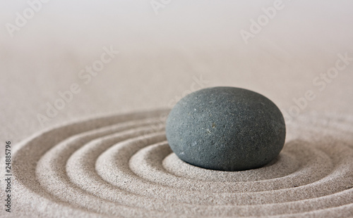 Recess Fitting Stones in Sand zen