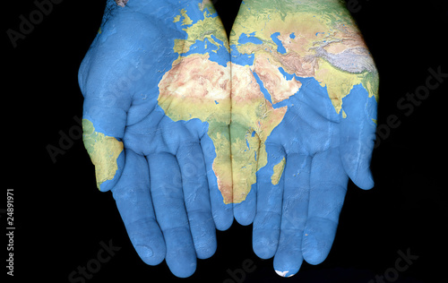 Foto op Canvas Afrika Africa In Our Hands