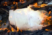Burning Vintage Paper