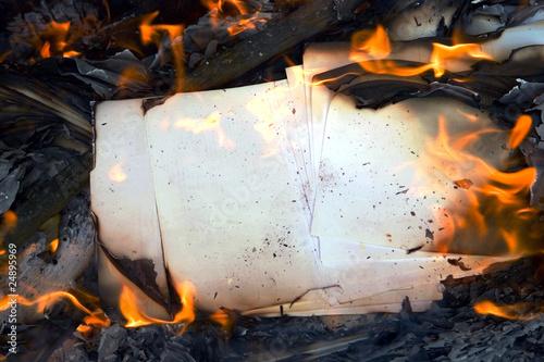 burning vintage paper Fototapet