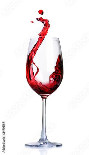 Papiers peints Vin Red Wine Abstract Splashing