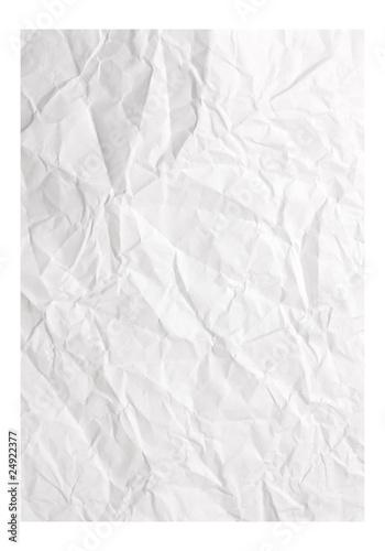 Valokuva  Crumpled white paper