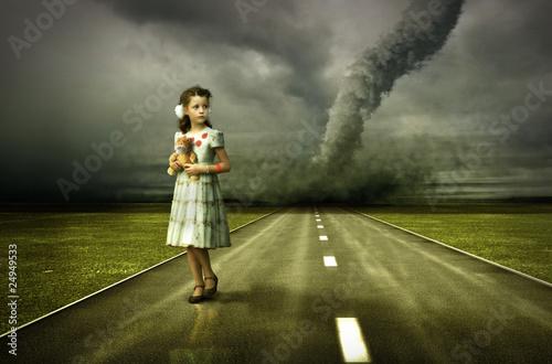 Fotografie, Obraz  girl tornado