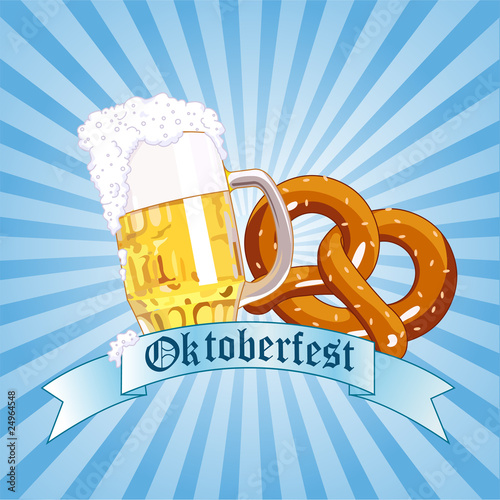 Poster Magie Oktoberfest Celebration Radial Background