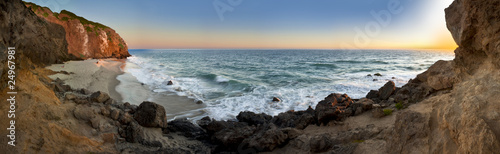 Staande foto Strand Point Dume Beach Panoramic