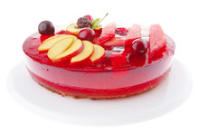 Fruits Jelly Pie With Apricot And Watermelon