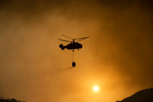 Helicopter Fighting Fire