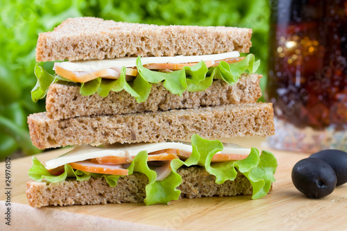 Foto op Canvas Snack Freshly made sandwich with dietetic bread