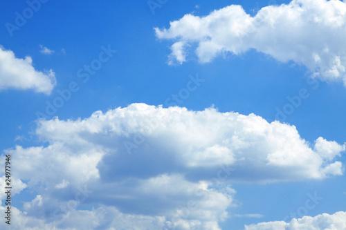 Fototapeta Blue sky with white clouds obraz