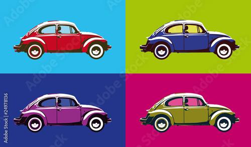 Fotobehang Pop Art popart auto