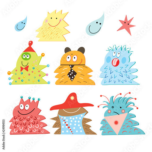 Poster de jardin Creatures Funny Monsters