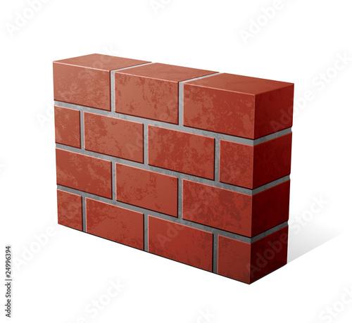 Fotografía  mur en briques /  firewall pare-feu