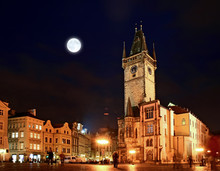The Old Town Square At Night