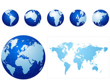 Global Icons And Map