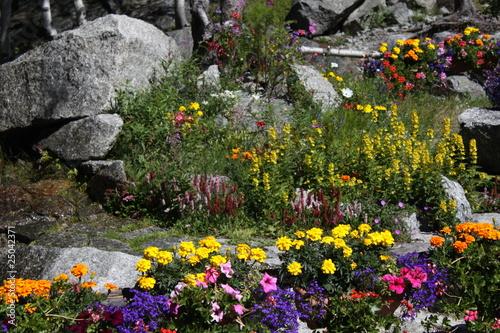 jardin de rocaille - Acheter cette photo libre de droit et découvrir ...