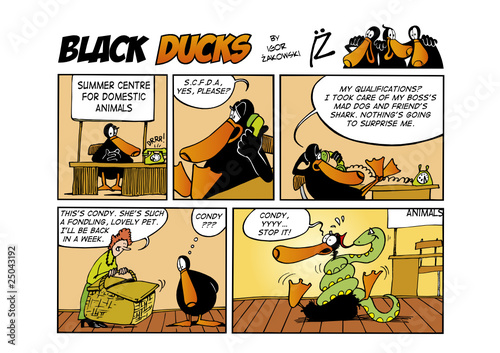Tuinposter Comics Black Ducks Comic Strip episode 51