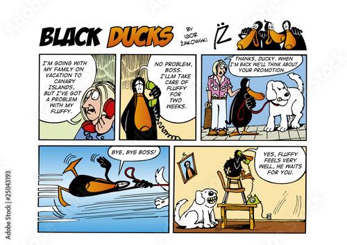 Foto op Plexiglas Comics Black Ducks Comic Strip episode 50