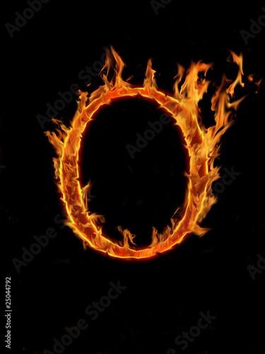 Photo Stands Fire / Flame Fire letter