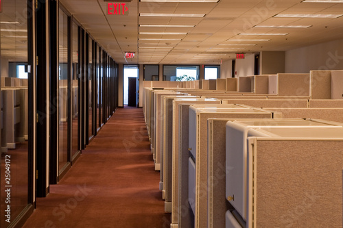 Canvastavla Rows of Cubicles in an Office