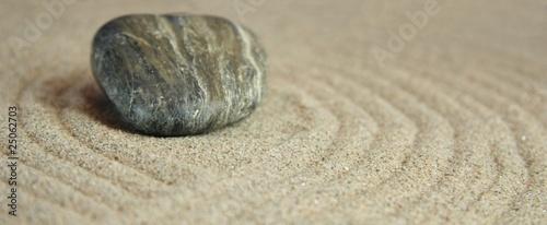 Acrylic Prints Stones in Sand Stein im Sandkreis
