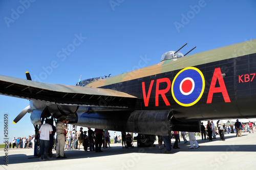 Stampa su Tela Fuselage and mid turret of a RAF lancaster bomber