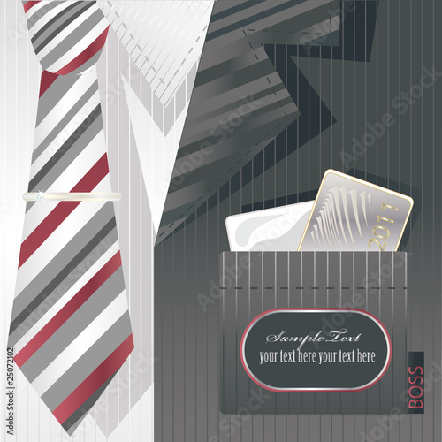 Stylish background with cravat and label. Fototapet