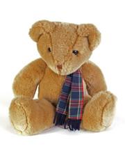 Teddy Bear With A Tartan Scaf ...