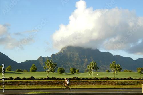 Spoed Foto op Canvas Noordzee Biking Kauai