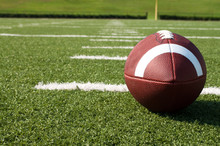 Closeup Of American Football O...