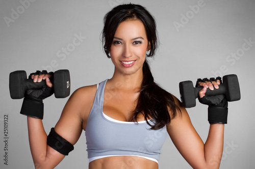 Fotografie, Obraz  Woman Lifting Weights