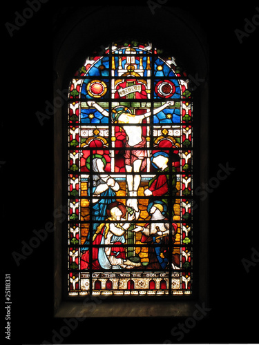 Crucifixion stained glass Wallpaper Mural