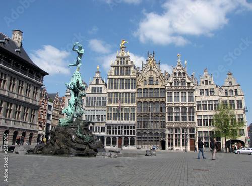 Poster Antwerpen Antwerp Grote Markt