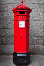 Traditional Post Box In London