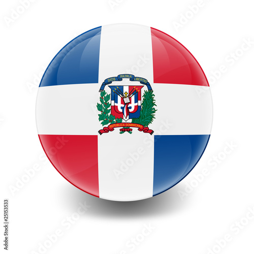 Photo Esfera brillante con bandera Republica Dominicana
